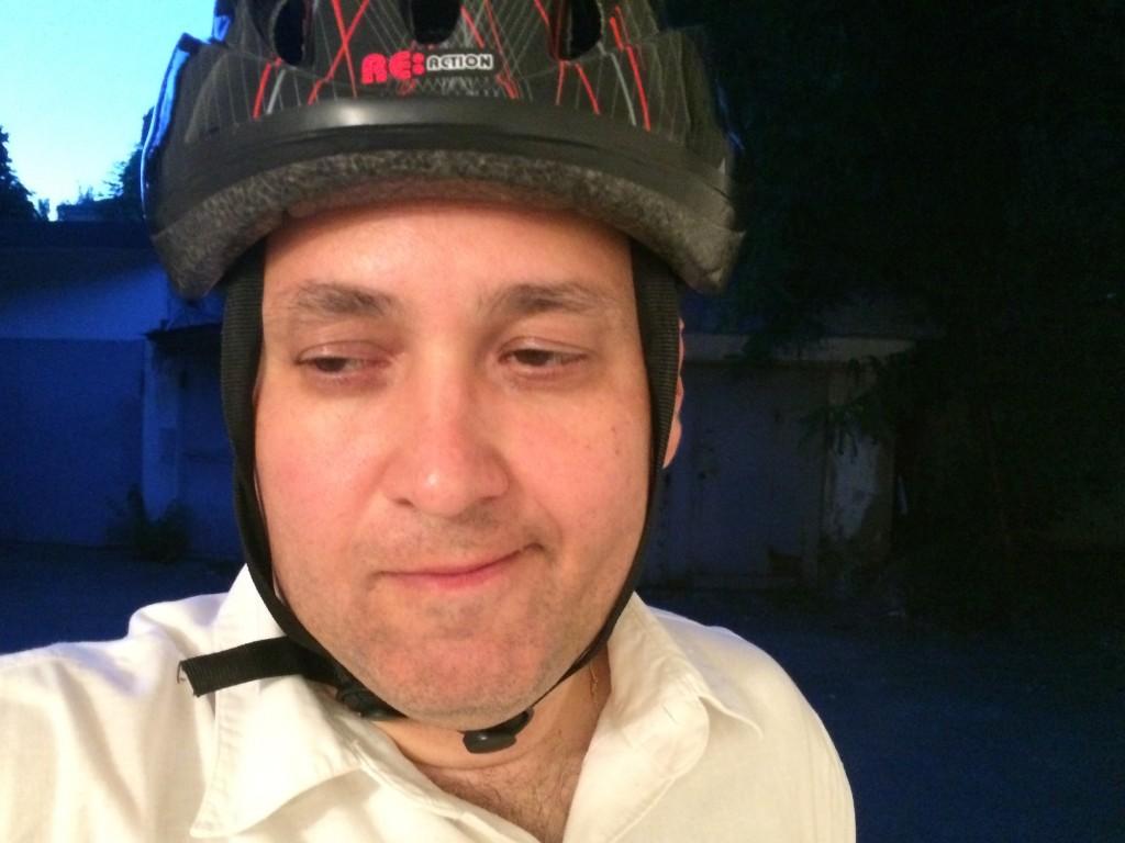 Секретарь Столыпин Клуба Сергей Коннов очень доволен проведенным днем без автомобиля (но с велосипедом!)