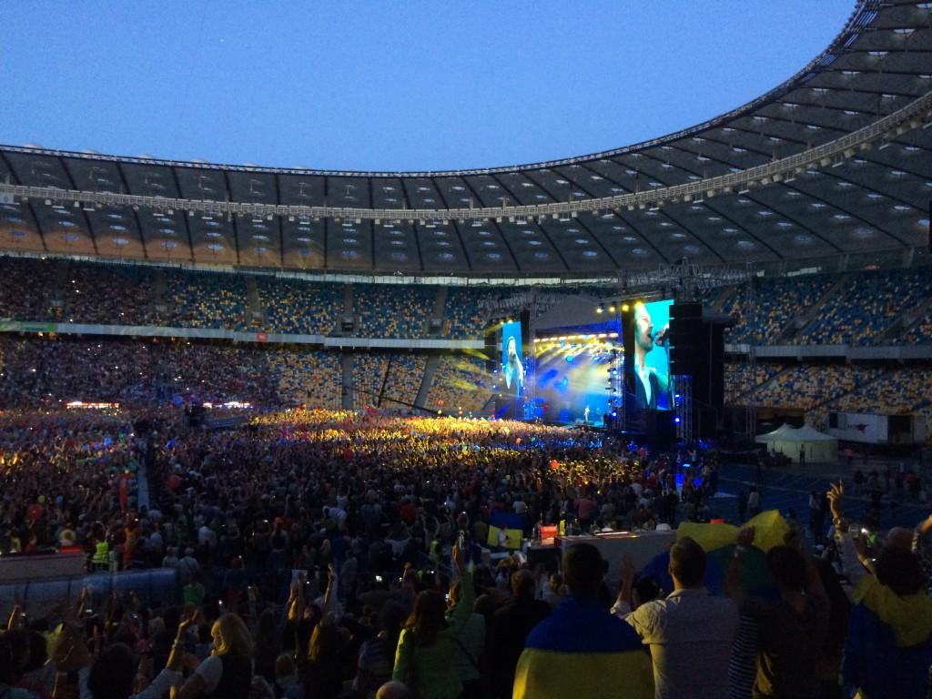 """Начало концерта """"Океана Эльзы"""" на НСК """"Олимпийский"""" 21 июня 2014 года"""