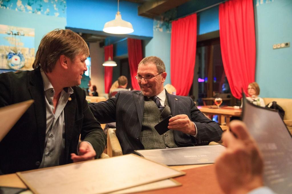 Старший Член Столыпин Клуба Владислав Кузнецов (слева) и Президент Клуба Александр Крылов - в хорошем  настроении!