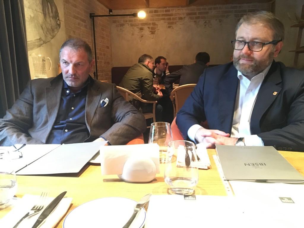 Два Президента: Александр Крылов (Президент Столыпин Клуба 2012 - 2016) и Валентин Загария (2016 - 2018) на заседании Совета Клуба